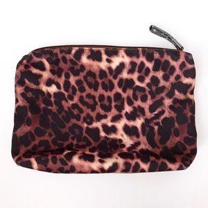 Street Level Cheetah Zipper Pouch Clutch NWOT